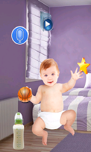 screenshot of Tickle Talking Baby version 1.1