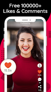 screenshot of TikBooster : Tik Tok Fans & Followers & Likes version 1.0.2