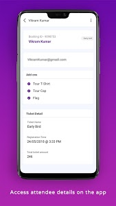 screenshot of Townscript Event Manager version 1.34