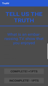 screenshot of A Game of Truths and Dares version 1.06