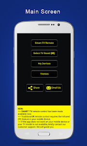 screenshot of Universal TV Remote Control version 1.0.24