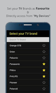 screenshot of Universal TV Remote Control version 1.0.67