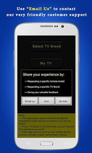 screenshot of Universal TV Remote Control version 1.0.22