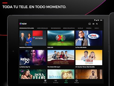 screenshot of Univision NOW - TV en vivo y on demand en español version Varies with device