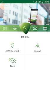 screenshot of Vietcombank version Varies with device