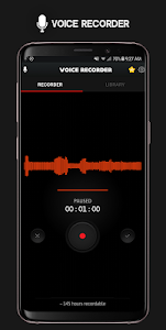 screenshot of Voice Recorder version 1.2.0