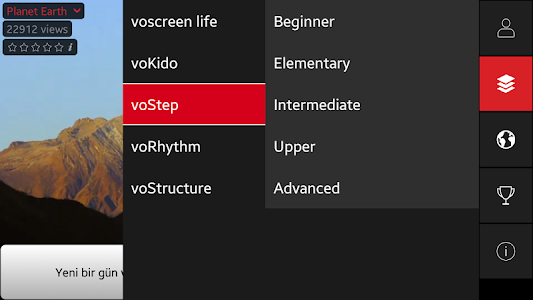 screenshot of Voscreen - Learn English with Videos version 1.2.7