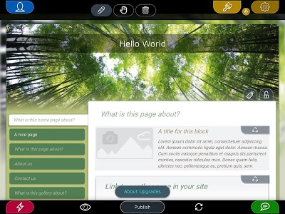 screenshot of Website Builder for Android version 2.0.15
