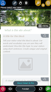 screenshot of Website Builder for Android version 2.0.25