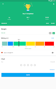 screenshot of Weight Loss in 30 Days version 1.0.1