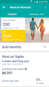screenshot of WestJet version 3.1