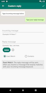 screenshot of WhatsAuto - Reply App version 1.0.81