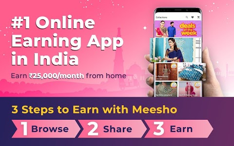 screenshot of Work from Home, Earn Money, Resell with Meesho App version 7.6.3