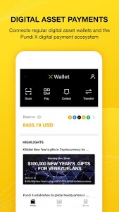 screenshot of XWallet version 1.2.2