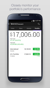 screenshot of Yahoo Finance version 2.1.5