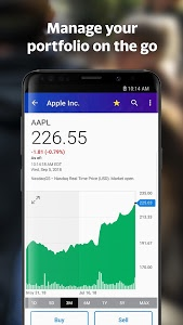 screenshot of Yahoo Finance: Real-Time Stocks & Investing News version Varies with device