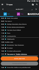 screenshot of Yle Areena version Varies with device