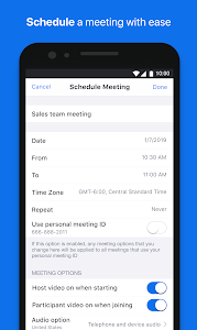 screenshot of ZOOM Cloud Meetings version 4.1.35374.1217