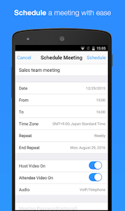 screenshot of ZOOM Cloud Meetings version 4.1.24966.0521