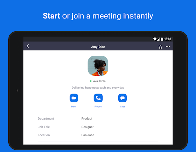 screenshot of ZOOM Cloud Meetings version 4.6.19194.0323