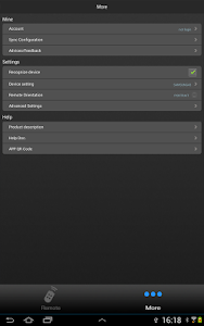 screenshot of ZaZa Remote-Universal Remote version 3.6.5