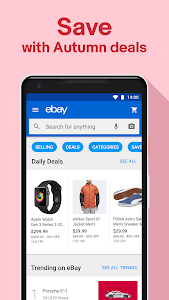 screenshot of Fashion & Tech Deals - Shop, Sell & Save with eBay version Varies with device