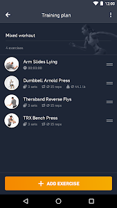 screenshot of eGym Fitness app version 3.1.0
