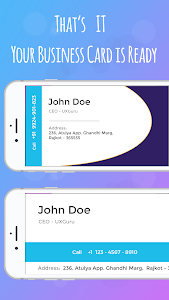 screenshot of Business Card Maker & Creator - Name card maker version 4.0.0