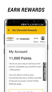 screenshot of myChevrolet version Varies with device