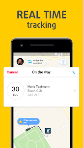 screenshot of mytaxi. Europe's #1 Taxi App version Varies with device