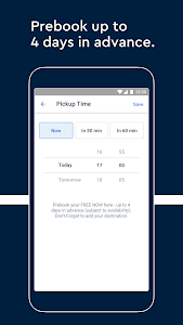 screenshot of FREE NOW (mytaxi) - black cab & taxi booking app version Varies with device