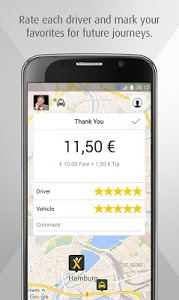 screenshot of mytaxi – The Taxi App version 6.6.1