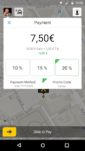 screenshot of mytaxi – The Taxi App version 6.0.4