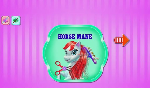 screenshot of pony horse braiding salon game kids version 1.0.0
