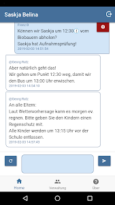 screenshot of skooly Klassenbuch version 3.4.1