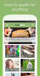 screenshot of wikiHow: how to do anything version Varies with device